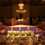 Dream Foundation Valentino charity charitable event private exclusive elegant dining dramatic lighting