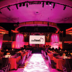 Heart Foundation Palladium - charity charitable private event party planner pink and red theme dining tables