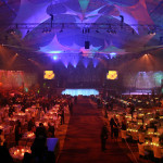 UPMC – Seasons of Hope - Charity Charitable Event private planner design space Pittsburgh Steeler's practice football field dramatic lighting vision sweeping