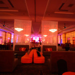 Cran-Tango Holiday - Corporate Event company private planner design large events business party colorful lounge relax enjoy curtains couch sofa