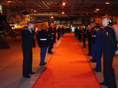 Naval-Aviation-enlisted-men-on-red-carpet-greet